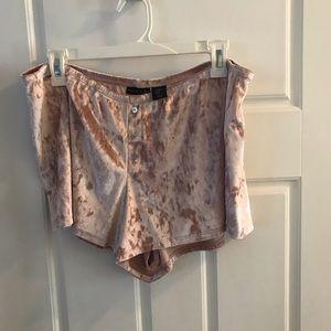 Tahari velvet sleep shorts NWOT